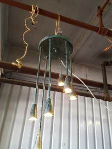 Copper Verdigris Chandelier