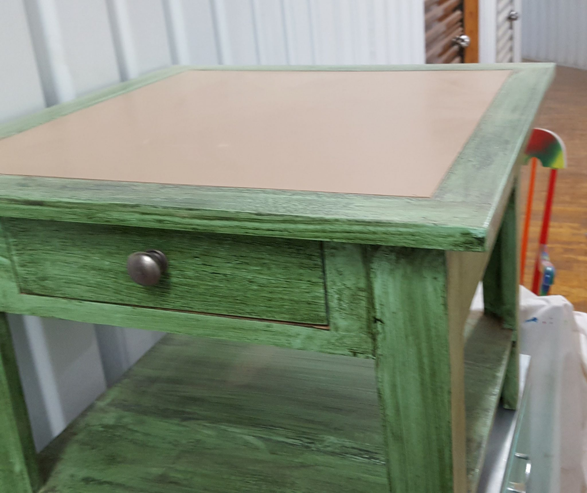 View of end table