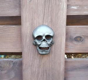 skull beer opener